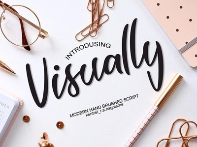 Visually Script Free Font