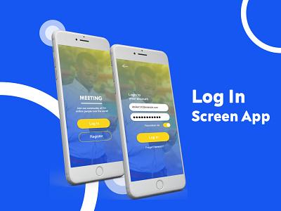 Log In Screen App app typography ux ui design