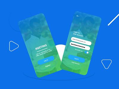 Login Screen App uxdesign app ux ui design