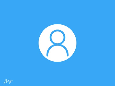 Profile Icon icon logo typography branding vector inspiration illustration design