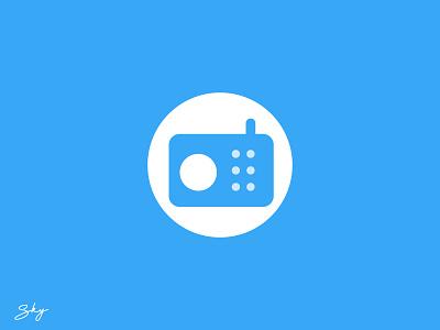 Radio Icon icon ux typography logo branding inspiration illustration design