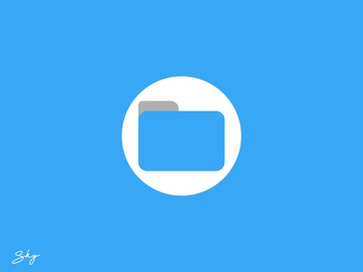 My Files icon logo branding inspiration illustration design