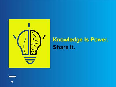 Knowledge is power. design illustration challenge logo graphic design