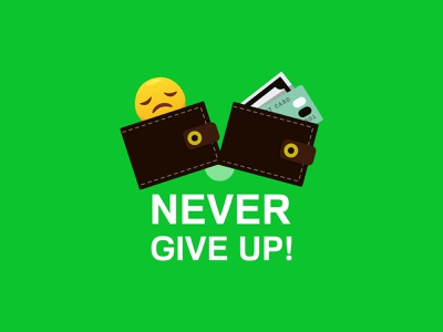 Never give up! icon ux ui typography inspiration design