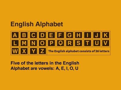 English Alphabet ux ui icon vector typography branding logo inspiration illustration design