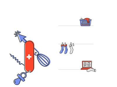 Work/Life Doodles illustration doodles kids children pandemic caregivers artists work-life balance