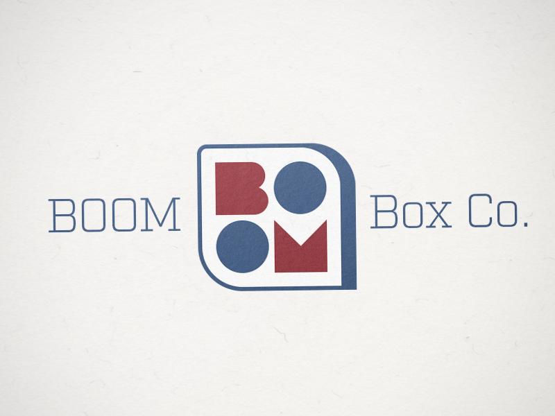Boom Box Co. Logo logo design boxes folding carton brand identity