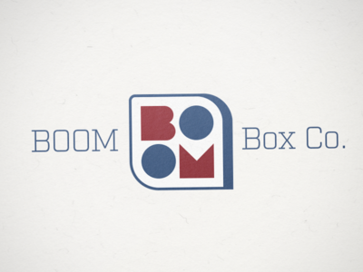 Boom Box Co. Logo logo design boxes folding carton brand identity