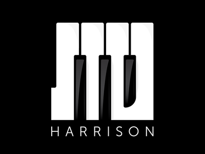 Stu Harrison Music Logo logo design musician keys piano music brand identity