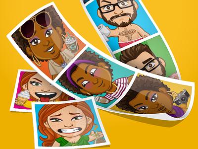 Mojis Promo Graphic photos apps transformation graphic design