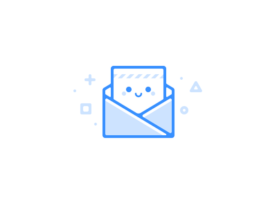 Email Dude mail face smile line icon illustration email