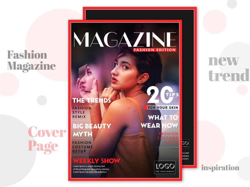 Magazine Cover Page By Rahul Kumar On Dribbble