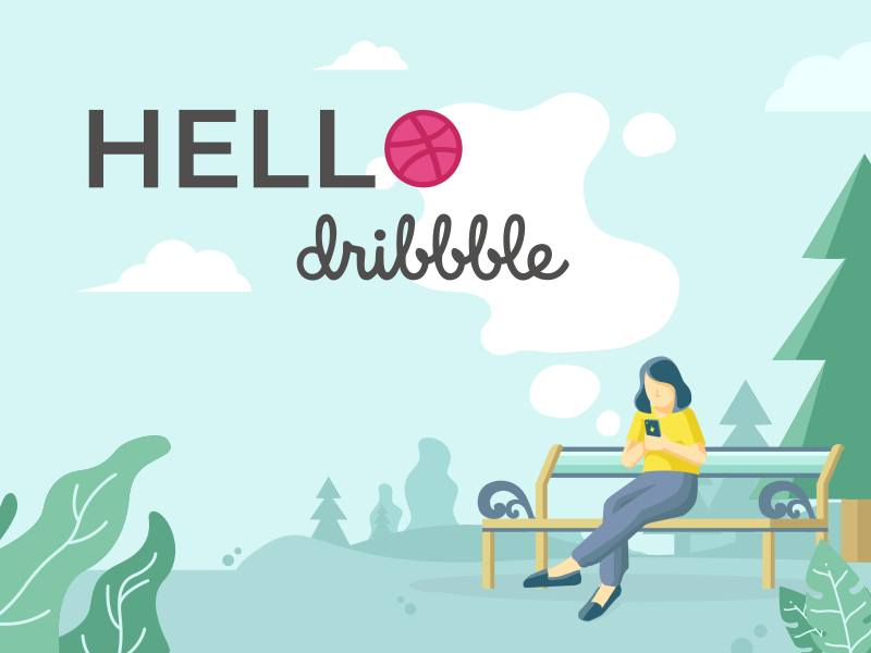 Hello Dribbble startup app application page landing smartphone park hello website landing page