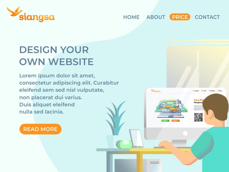 Design Your Own Website web imac apple designer table flower uidesign ux ui smartphone laptop computer illustration design website
