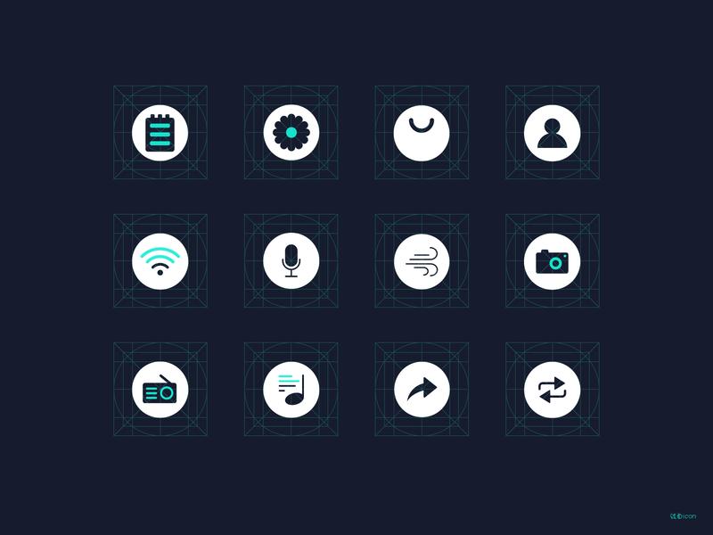 线面_icon illustrator icon design web app illustration icon design