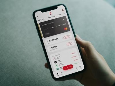 Alfa-Bank concept mobile app bank finance ux ui mobile animation app design