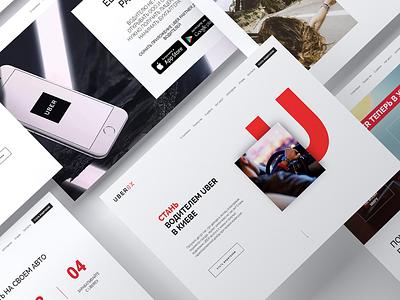 Uberex - Uber partner in Ukraine website ui uber design uber ui web design webdesig landing page