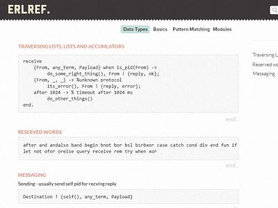Erlang Reference - v2.0 erlref website webapp