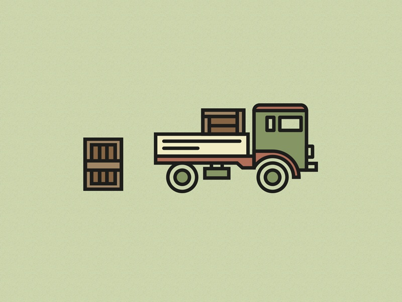 Dribbble Truck xwine truck checkout thinline icon tire woodbox vintage truck winebox