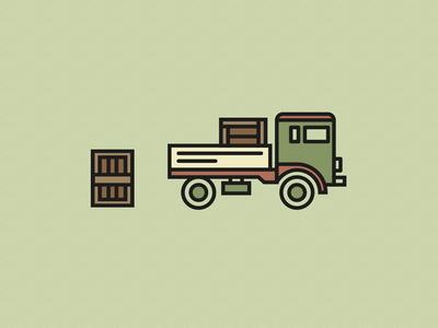 Dribbble Truck
