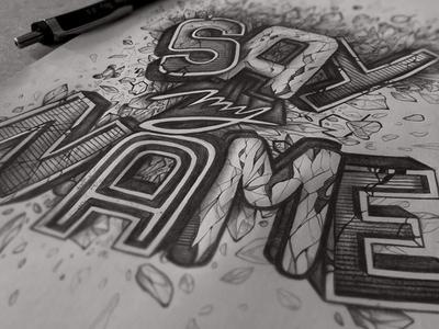 [Say my Name] typography lettering letter saymyname breakingbad bluemeth draw heinsenberg bad breaking