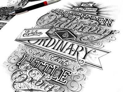 Ordinary type typo typography lettering hand lettering letters letter script handmade handtype