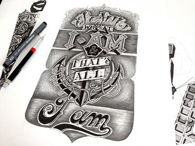 Popeye Quote [I Am what I Am] type typo typography lettering hand lettering letters letter script handmade handtype
