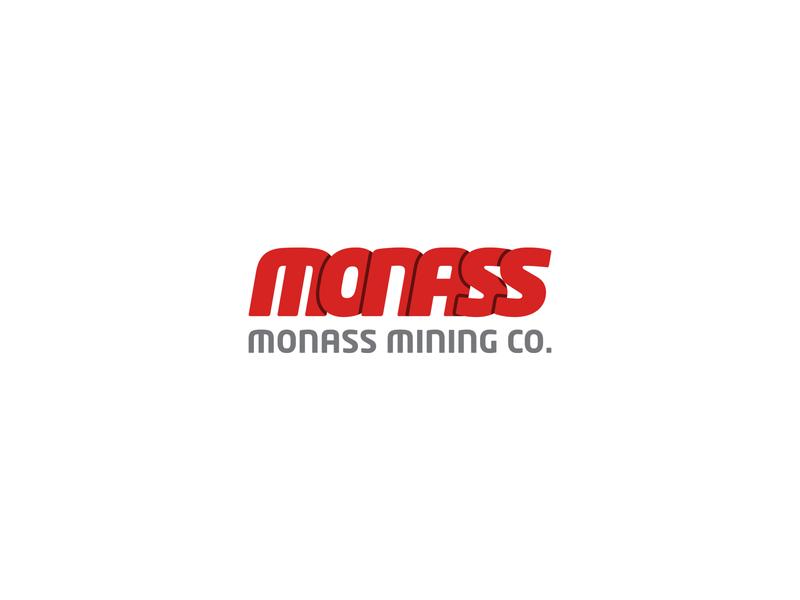 Monass Mining • Logo branding calligraphy typography logo