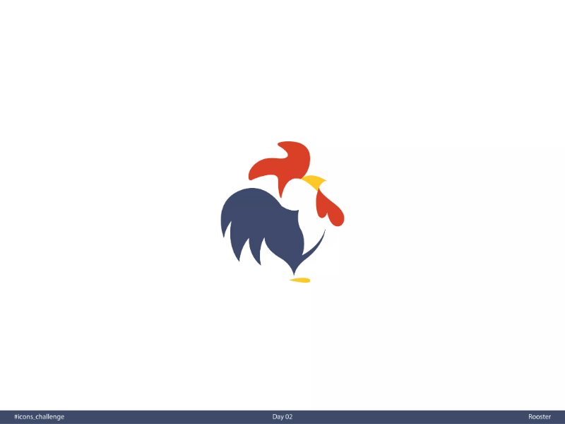 Rooster | Day 02 | #icons_challenge icons-challenge