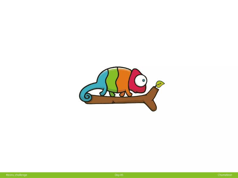 🦎 Chameleon | Day 05 | #icons_challenge icons-challenge