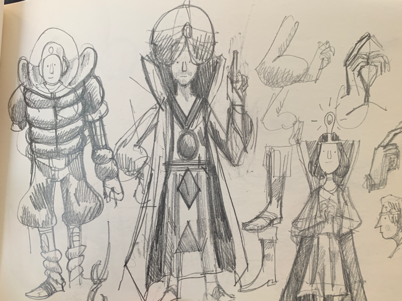 Sketchbook: costumes pencil sketchbook costume character