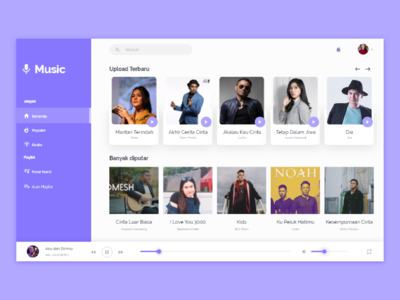 Music Web Design