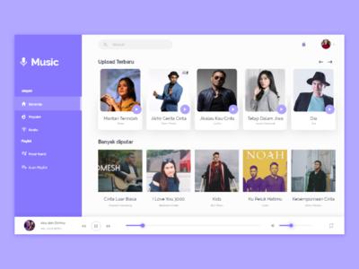 Music Web Design