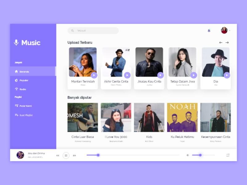 Music Web Design clean minimalism music uidesign web design