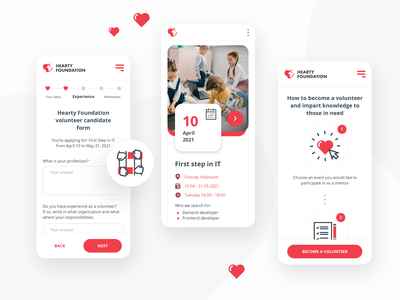 Hub For Kids ux ui web web design product design ngo education hearts love design