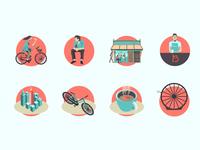 UI elements for la bicicleta App