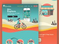 Landing page La Bicicleta App