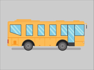 Yellow Bus poster flatdesign flat traffic bus vector illustration illustrator vector adobe illustrator illustration freelance design