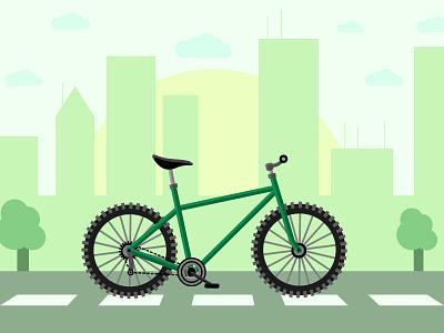Bike flat design flat illustrator vector illustration poster freelance vector poster art illustration adobe illustrator