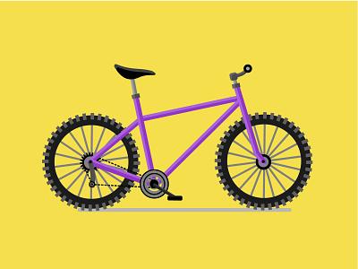 Purple Bike bike purple pantone2021 yellow design poster art vector illustration vector art vector flat design illustration art illustration illustrator adobe illustrator