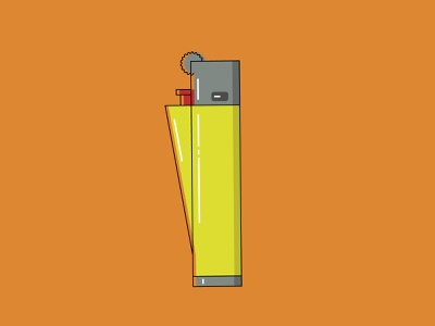 Clipper Lighter lines line clipper lighter design flat design vector vector illustration illustrator adobe illustrator illustration