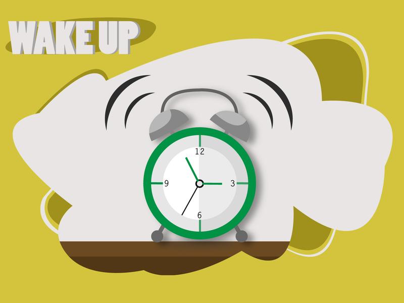 Wake Up ux ui illustrator illustration art adobe illustrator vector illustration poster art poster freelance design