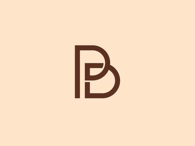 Monogram Letter P & B