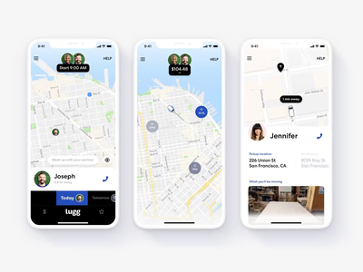 Mover app interactions product design mobile app app design navigation ios iphone iphonex app mobile design ux ui interaction animation