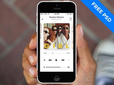 Music Player (6 screens + PSD)