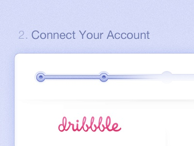 Connect Your Account signup purple dribbble github process connect account login register blablablabla