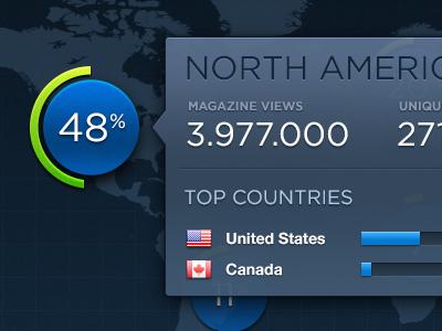 Analytics stats analytics statistics map world countries ipad metrics