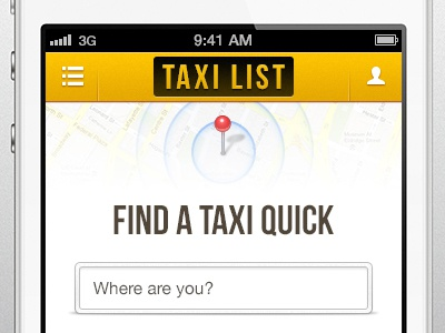 Need a Taxi? taxi yellow iphone app ios search black bright