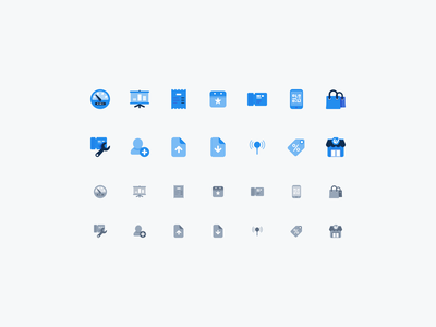 Dashboard icons illustration blue vector branding ui design icon iconset icons