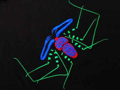 Illustration of Spider as embroidery